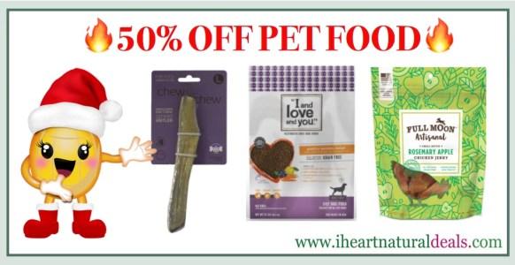 Jet.com - 50% off Select Pet Food and Treats
