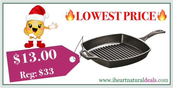 Lodge L8SGP3 Cast Iron Square Grill Pan