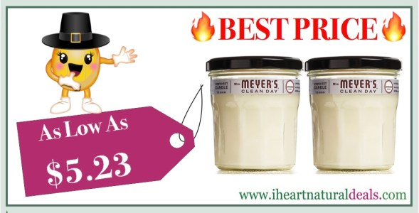 Mrs. Meyers Soy Candle Large Lavendar 2 Pack