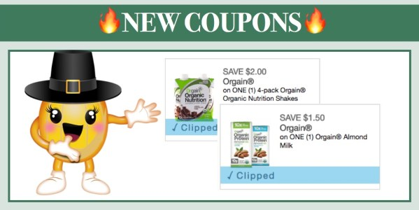 New Orgain Organic Coupons