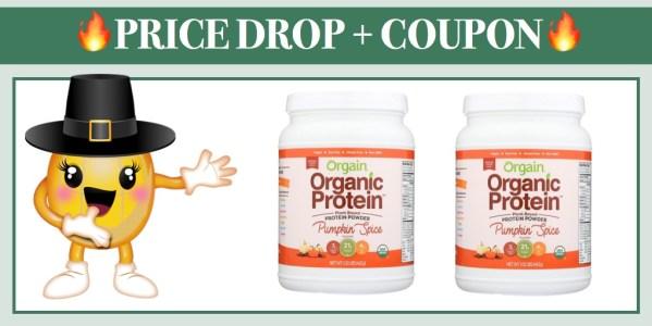 Orgain Organic Plant Based Protein Powder Pumpkin Spice