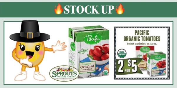Pacific Foods Organic Tomatoes Coupon Deal