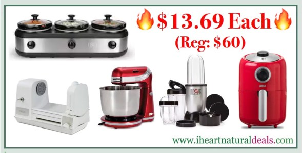 Magic Bullet, Dash Air Fryer, Stand Mixer, Spiralizer or Slow Cooker