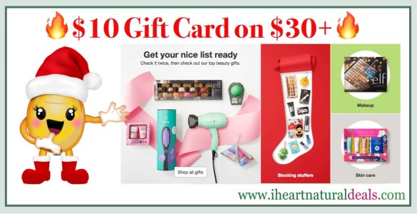 FREE $10 Gift Card wyb $30 in Beauty & Personal Care at Target