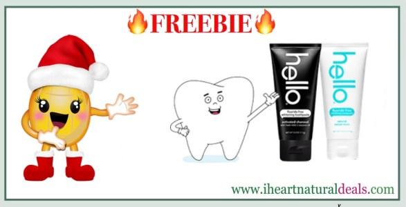 Free Sample of Hello Flouride-Free Toothpaste