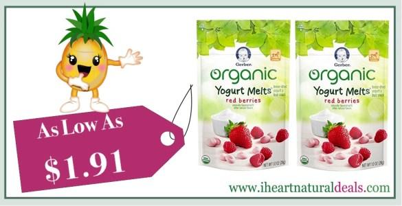 Gerber Organic Yogurt Melts Fruit Snacks 7 Pack