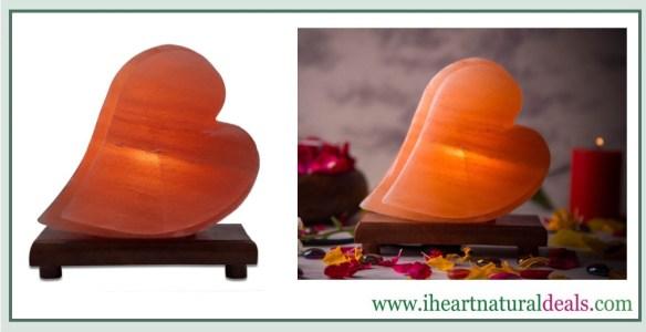 Himalayan Double Heart Shape Salt Lamp