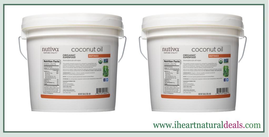 Nutiva Organic Coconut Oil 1 Gallon - Only $17 99!