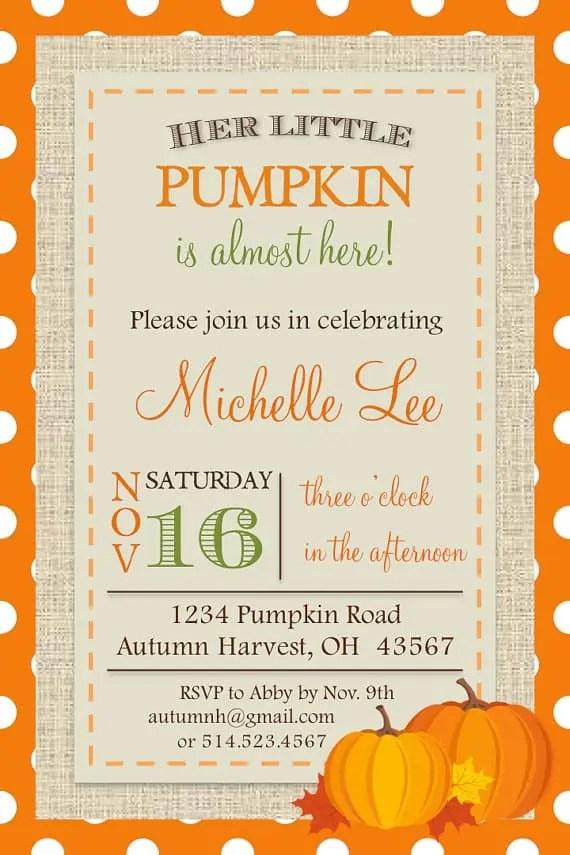 fall baby shower ideas invitations