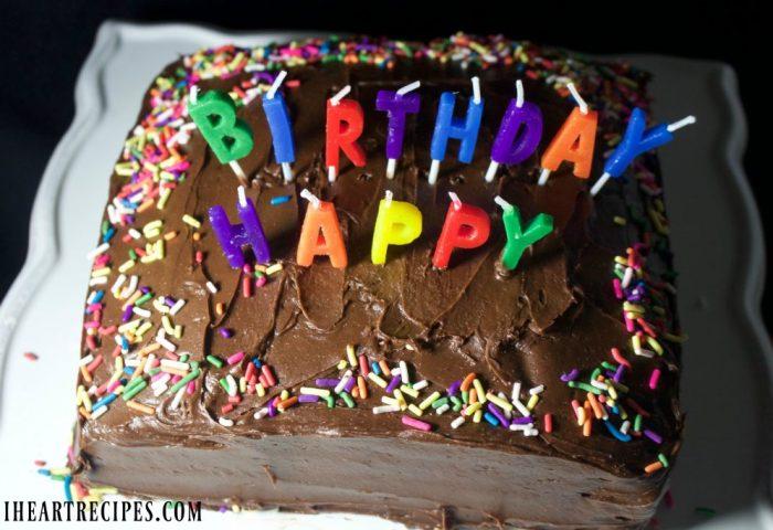 Simple Birthday Cake I Heart Recipes