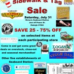 sidewalk and tag sale at seaboard stationsidewalk and tag sale at seaboard station