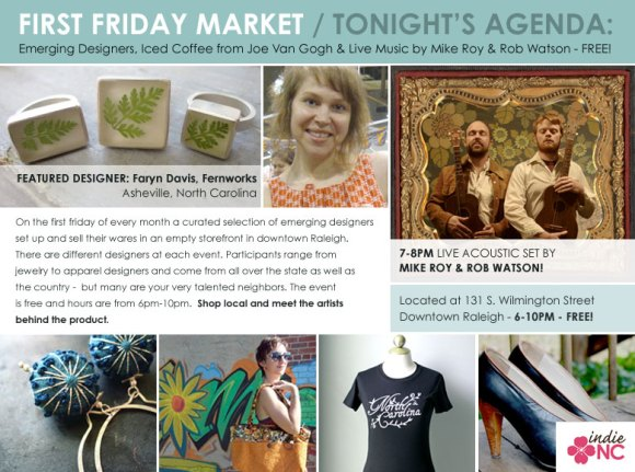 First Friday Market - Downtown Raleigh - July 2010