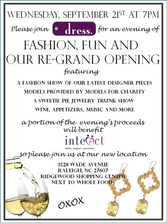 Raleigh Consignment Boutique, dress., Re-Grand Opening in Ridgewood Shopping Center
