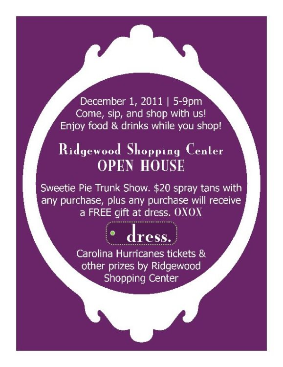 dress. Sip and Shop at Ridgewood Shopping Center Holiday Open House