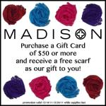 Madison Scarf + Gift Card offer