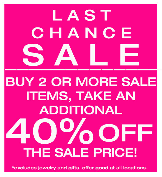 Uniquities last chance sale