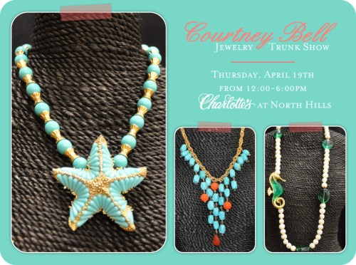 courtney bell jewelry trunk show at charlotte's cameron village