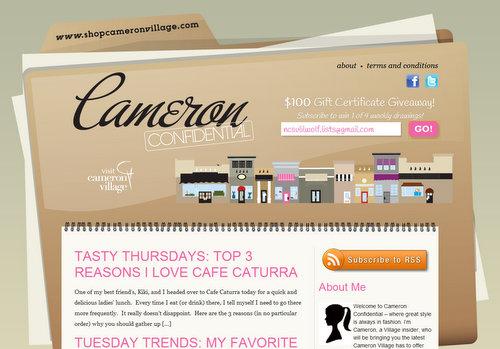 Cameron Village launches Cameron Confidential blog
