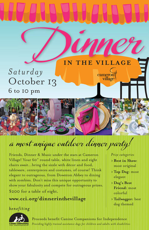 Dinner in the Village fundraiser benefitting Canine Companions for Independence in Cameron Village