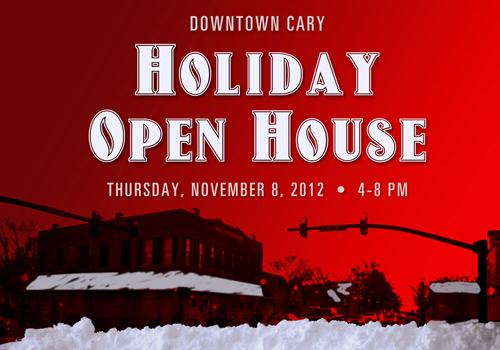 Downtown Cary Holiday Open House on Thursday