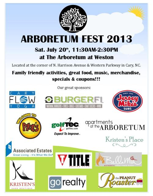 Arboretum Fest 2013 at The Arboretum at Weston in Cary