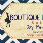 Shop Local Raleigh Boutique Blowout sale event