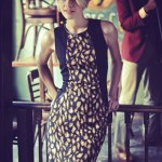 Glam Globetrotter - DKNY dress