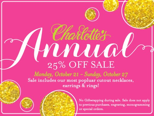 Annual fall sale at Charlotte's