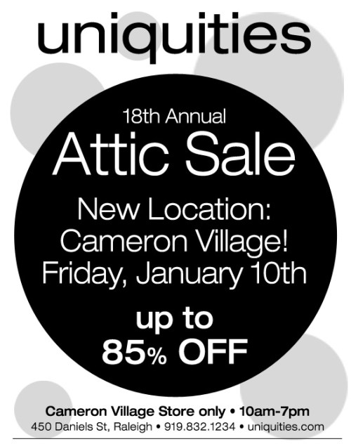 Uniquities 18th Annual Attic Sale