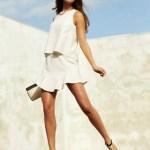 Clean Slate: BCBG white shell skirt