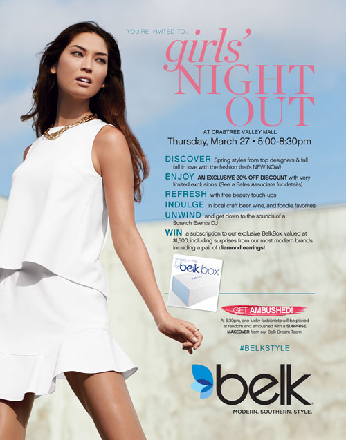 Girls Night Out at Crabtree Belk