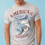 Cool graphic tees featured in men's collections in Spring 2014