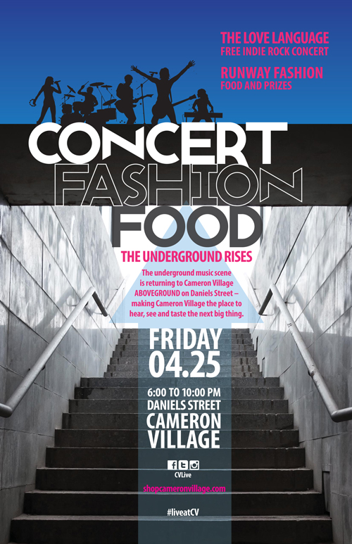 Live music, great specials at retailers open until 8, and more on Friday, April 25, 2014 at Cameron Village in Raleigh