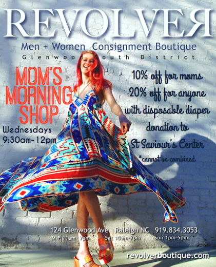 Mom's shop at Revolver Boutique in Downtown Raleigh