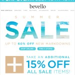 Additional 15% off final sale items at Bevello