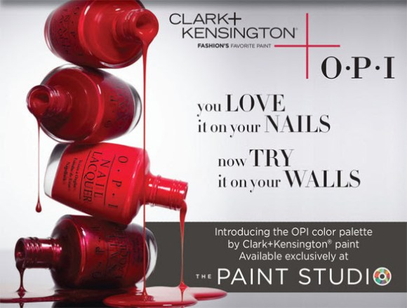 OPI colors at the Ace Hardware Paint Studio