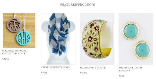 Featured items from Katie Leigh online jewelry boutique