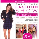 Free fall fashion show at Bevello in Cameron Village next week!