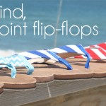 Bald Head Blues needlepoint flip-flops