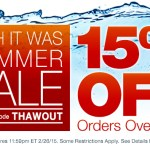 15% off at Overton's