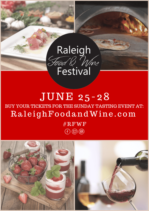 Raleigh Food & Wine Festival - Taking Place June 25-28, 2015