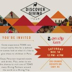 TOMS Discover Giving Tour Stopping at Peachy Keen on Saturday!
