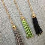 Tassel necklaces at Paisley in Downtown Cary