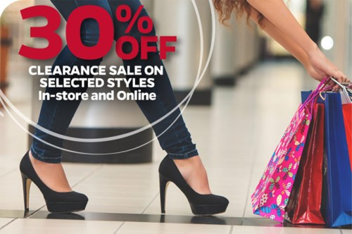 End of season sale on shoes at SRI