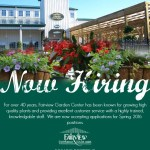 {Now Hiring} Fairview Garden Center
