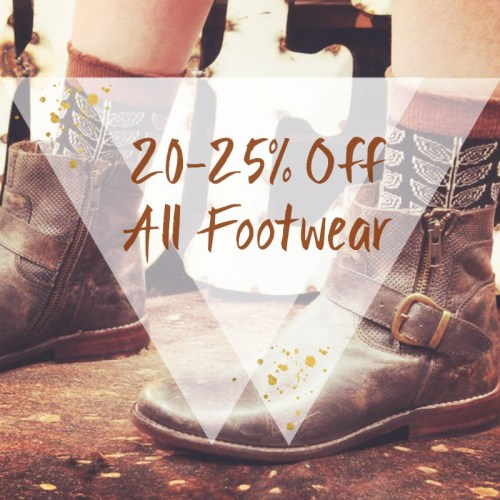 Sale on shoes at Gypsy Jule