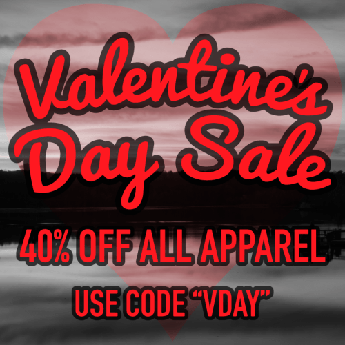 "Save 40% with code ""VDAY"""