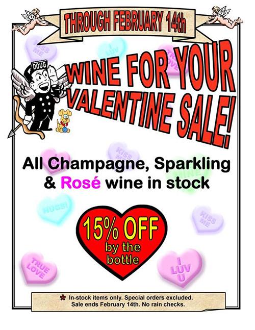 Valentine's wine sale at Seaboard Wine