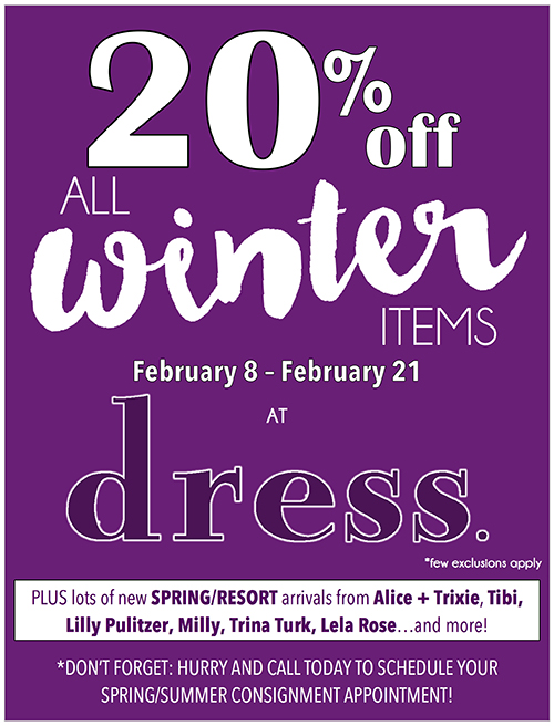 20% off at dress.
