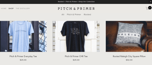 Shop Pitch & Primer online before the new storefront opens